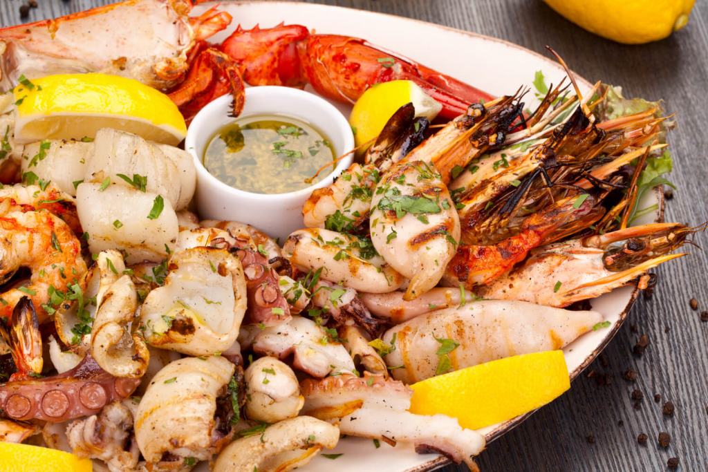 grilled fresh seafood
